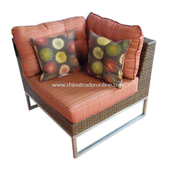 STAINLESS STEEL chair with wicker