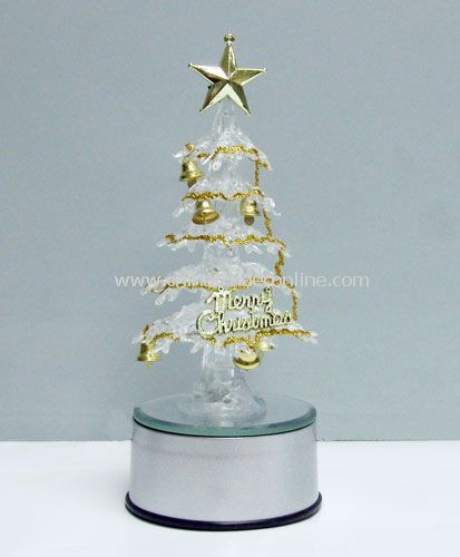 USB 7 color crystal  rotate tree