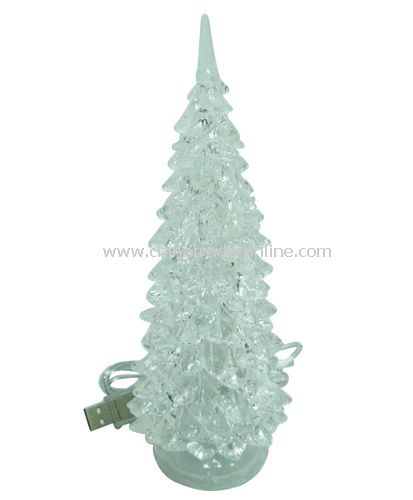 USB 7 COLOR CRYSTAL CHRISTMAS TREE