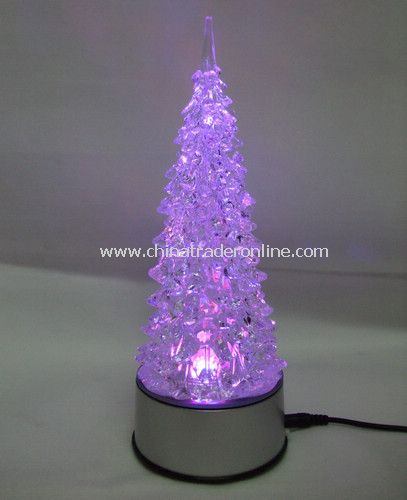 USB 7 color crystal turn tree