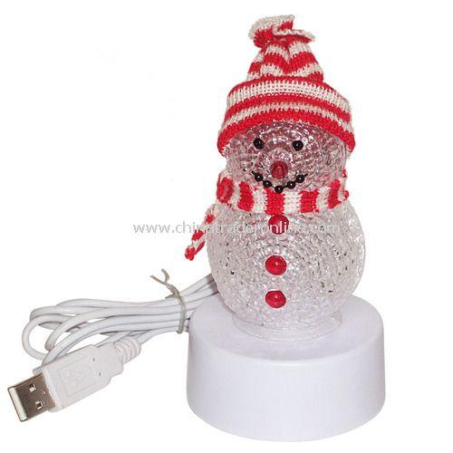 USB 7 COLOR SNOWMAN MUSIC OPTIONAL