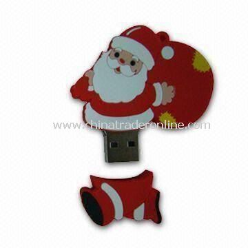 USB Flash Drive in Santa Claus Shape, with Bootable Function and Ten Years Data Retention