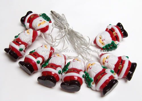 USB Santa Claus decorate light 8pcs 7 colors change LED with santa from China