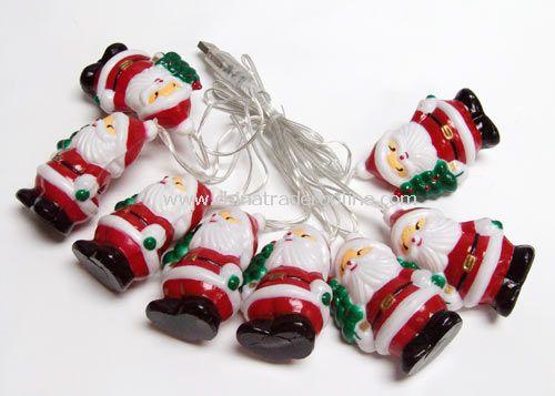 USB Santa Claus decorate light 8pcs 7 colors change LED with santa
