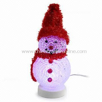 usb snowman with led light built in led that cycle through multi color - Nice Christmas Gifts