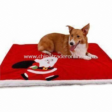 Xmas Pet Mat with Snowman, Measuring 100 x 70cm