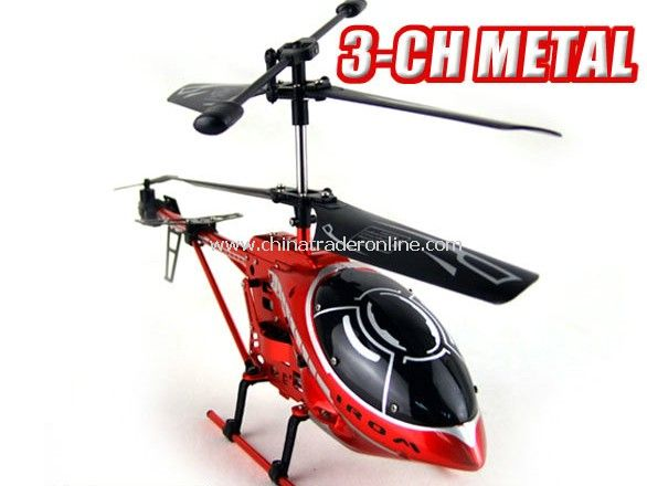 3-CH RC helicopter with gyro with alloy box package