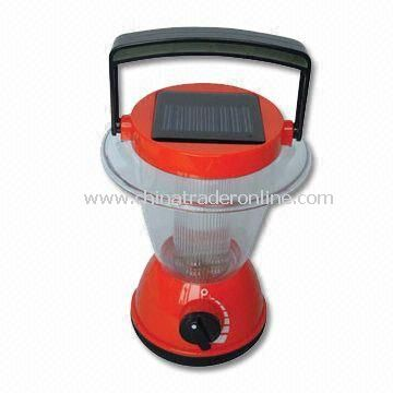 6LED Solar Camping Lanterns/Lamp, 4V50mA (0.2W), with Two 1.2V 600mA NI-CD Storage Batteries
