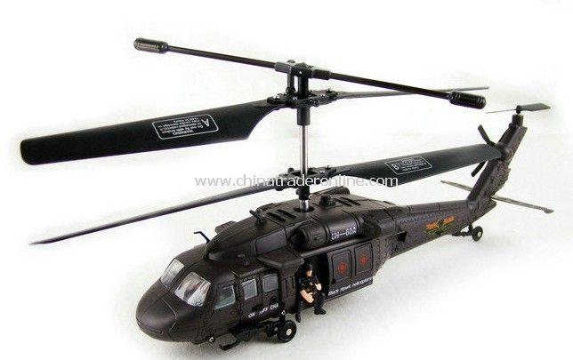 Black Hawk 3CH RC Helicopter with Intelligent Gyro