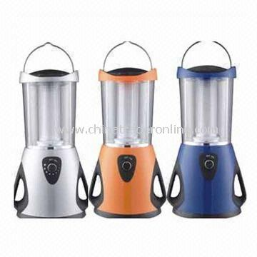 Camping Lanterns with Solar Panel, 6V/4AH Maintenance-free Lead Acid Rechargeable Battery