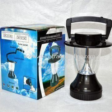 Camping Solar Lantern with 9V DC Input Voltage, Can Work for Eight to Ten Hours When Fully Charged