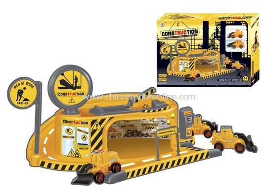 construction engineering Pretend Sets with 2 engineering plastic cars