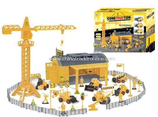 construction engineering Pretend Sets with 3 engineering plastic cars