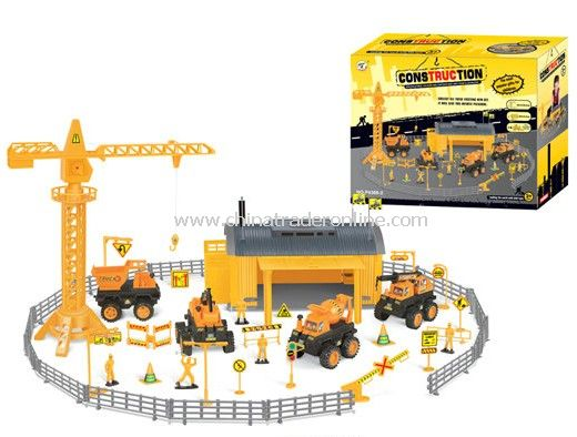 construction engineering Pretend Sets with 4 engineering plastic cars