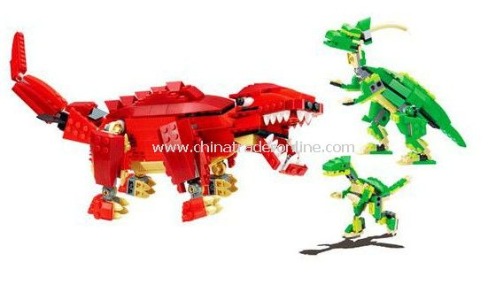 DINOSAUR toy bricks, building blocks