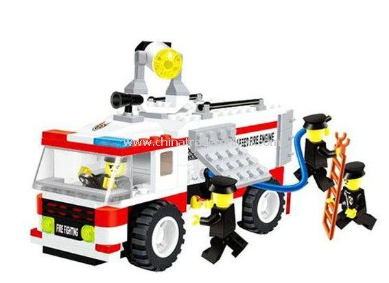 FIRE ENGINE toy bricks, building blocks