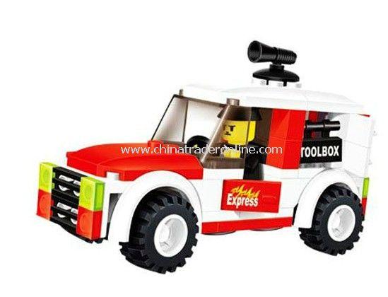 fire fighting car toy bricks, building blocks