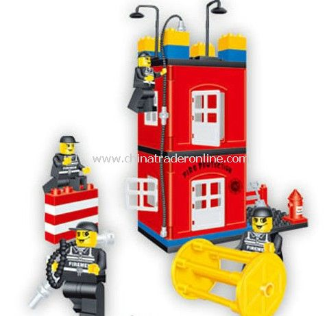 FIRE PROTATION - DRILLING SCENE toy bricks, building blocks from China