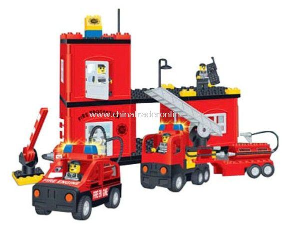 FIRE PROTATION HEADQUARTERS toy bricks, building blocks from China