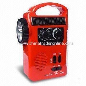 Multi-Function LED Camping Light with FM/AM Radio, AC/DC Adapter, Dynamo and Solar Power