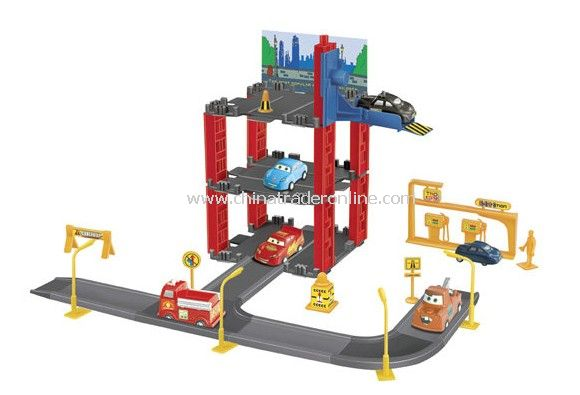 Parking lot Pretend Sets, Park & Play Service Garage with 3 cars