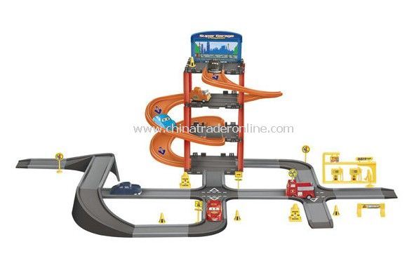 Parking lot Pretend Sets, Park & Play Service Garage with 6 cars