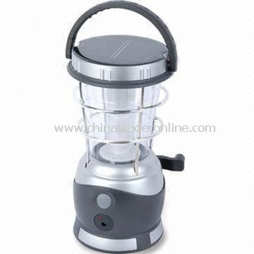 Solar and Dynamo Camping Lantern with 15 Pieces LED Light Source