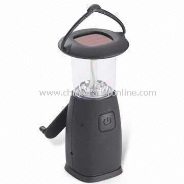 Solar Camping Lantern, Available with Mobile Charger and 6V/80mAh Battery Capacity