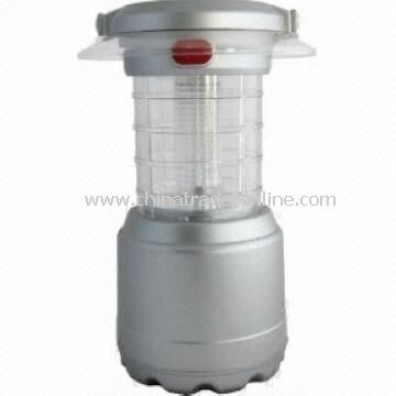 Solar Camping Lantern, with 4pcs Super Bright LED, Good for Camping, Boating and Fishing