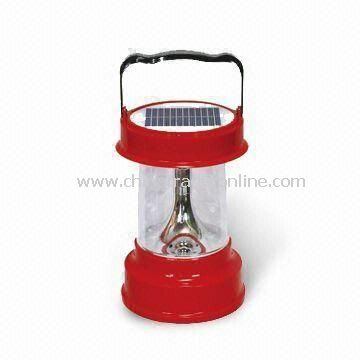 Solar Camping Lantern with 220V AC Voltage and 4V/3.5Ah Battery, Measuring 18 x 18 x 27cm