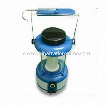 Solar Camping Lantern with 3W Panel and Stainless Steel Bottom