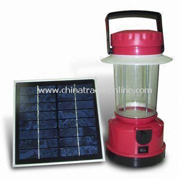 Solar Camping Lantern with Detachable Solar Panel