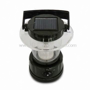 Solar Camping Lantern with Solar Panel, AC Charger and NiCd Battery