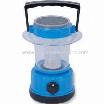 Solar Camping Lantern with Two Large LEDs, Green Product, Available in Blue from China