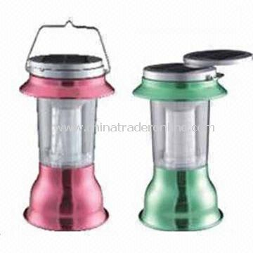 Solar Camping Lanterns with Panel, Environment-friendly and Energy Saving, Suitable for House