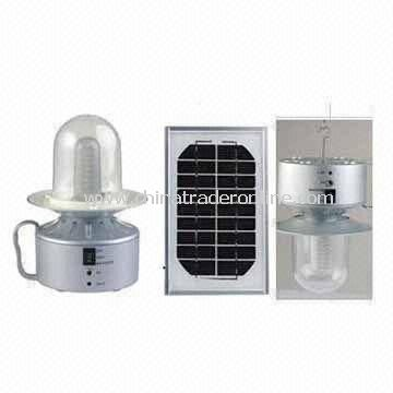 Solar Camping Lanterns with Panel, Made of ABS Plastic, AC Rechargeable Adaptor