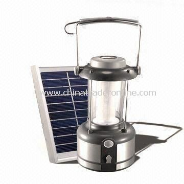 Solar Camping Light, Rechargeable by 220/110V AC Voltage