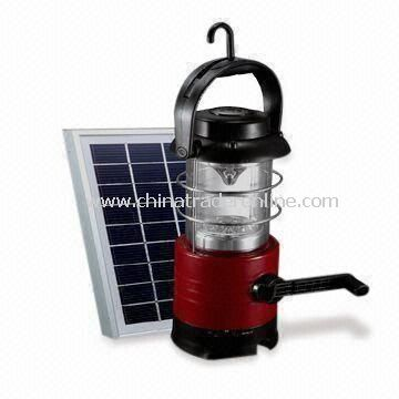 Solar Camping Light, with Compass and Cell Phone Charger