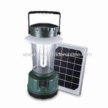 Solar Camping Lights with 3W Independant PV Panel and 10 to 13 Hours Charging Time