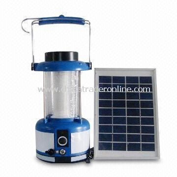 Solar Lantern/Camping Lamp/Hand Light with 8 to 14 Hours Battery Charging Time, Made of PS or ABS