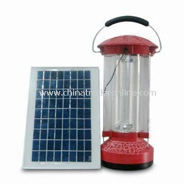 Solar Lantern/Camping Lamp/Hand Light with White Color, Measures 12 x 12 x 15cm