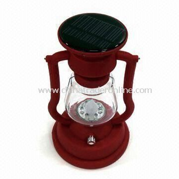 Solar Lantern with Seven LEDs, Solar Panel and NiCd Battery, Used for Camping