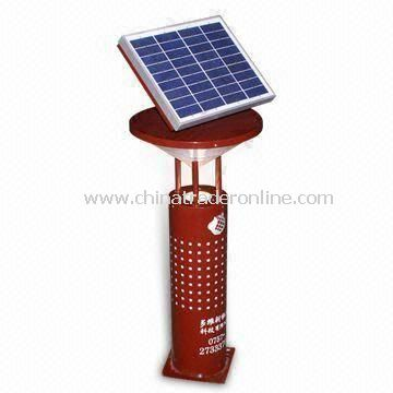 Solar Lawn Light with Metal Pole, 1.5 to 10Wp Polycrystalline Solar Panel, and 12V/8Ah Gel Battery