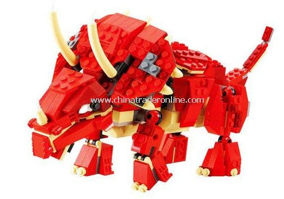 TRICERATOPS toy bricks, building blocks