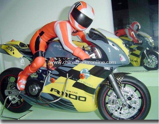 1:5 nitro powered motorcycle