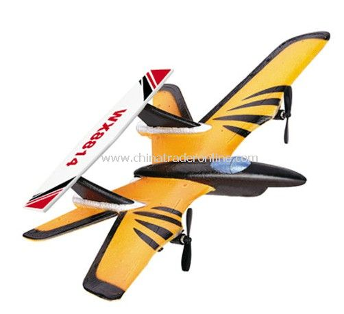 2-CH RC Aircraft Plane with Three Flight Lights