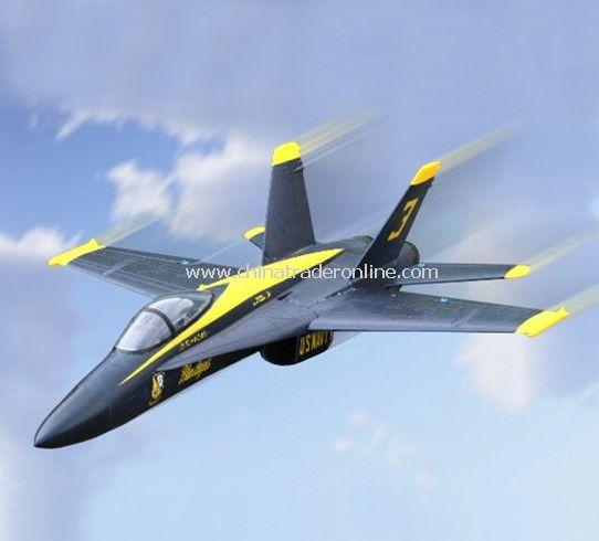4ch RC plane model - F/A-18C, blue angel