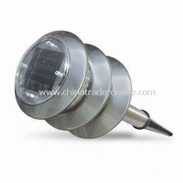 LED Solar Lawn Light with Monocrystalline Silicone Panel and Stainless Steel Lamp Body from China