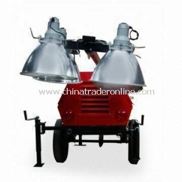 Mobile Tower Light Generator with 50Hz AC Frequency and Diesel Fuel, 5,500W Maximum AC Output