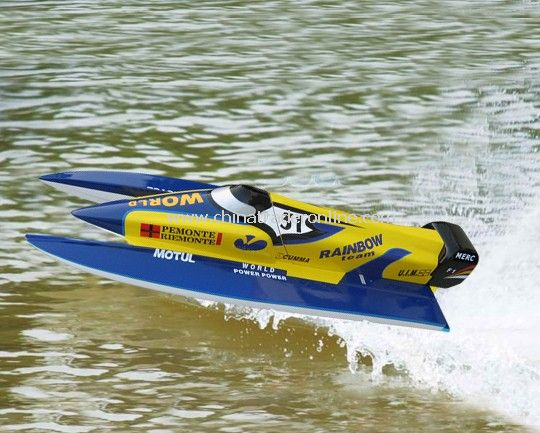 RC gasoline powered F1 Boat, 1300mm long - RTR